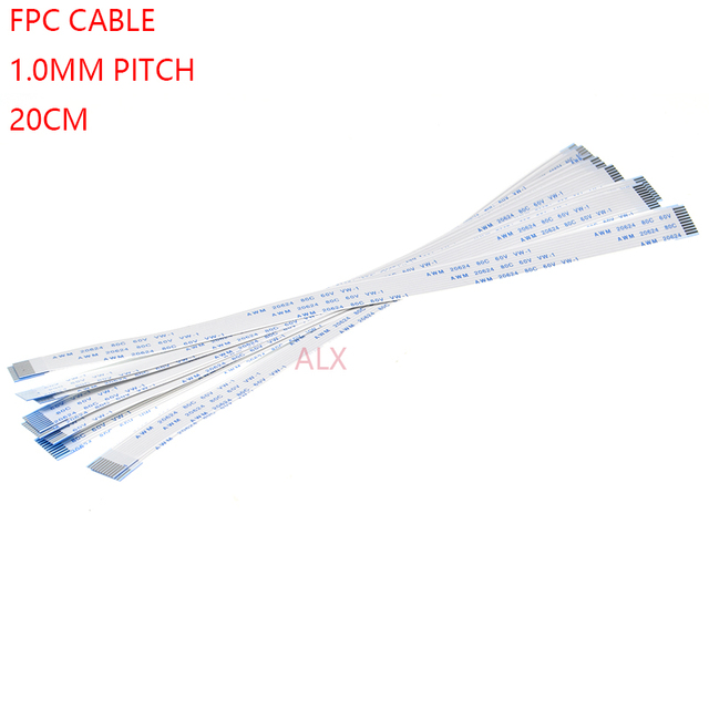 10 pcs FPC Ruban CÂBLE Plat Flexible HAUTEUR 1.0mm 200mm Un-Type 4 p 6 p 8 p 10 p 12 p 16 p 20 p 30 p 40 p FFC FIL 6/10/12 /16/20/30/40 broches