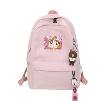 Harajuku Sailor Moon Backpack Women Travel Ribbon Backpacks Students Nylon Large Capacity Shoulder Bag Mochila Female