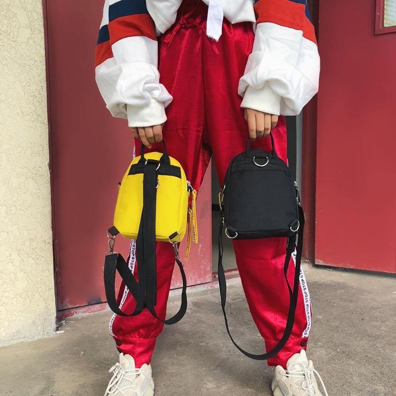 Fashion Letter Print Women Nylon Mini Backpack For Teenage Girls Shoulder Bag Travel Pack Female Casual Crossbody Bags Rucksacks #6