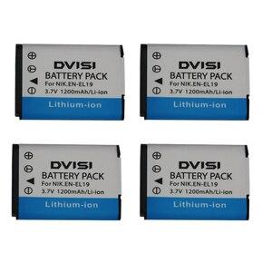 Image 4 - 3.7V 1.2Ah EN EL19 ENEL19 Bateria Da Câmera para Nikon Coolpix S3100 S3200 S3300 S4100 S4200 S4300 S4400 S5200 S6400 S6500