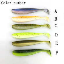 20/pcs 56mm/1.4g  Wobblers Fishing Lures Double Color Easy Shiner Swimbaits Silicone Soft Bait Carp Artificial Soft Lure