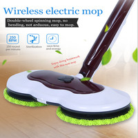 Electric wet and dry type mopping waxing machine chargeable floor mops