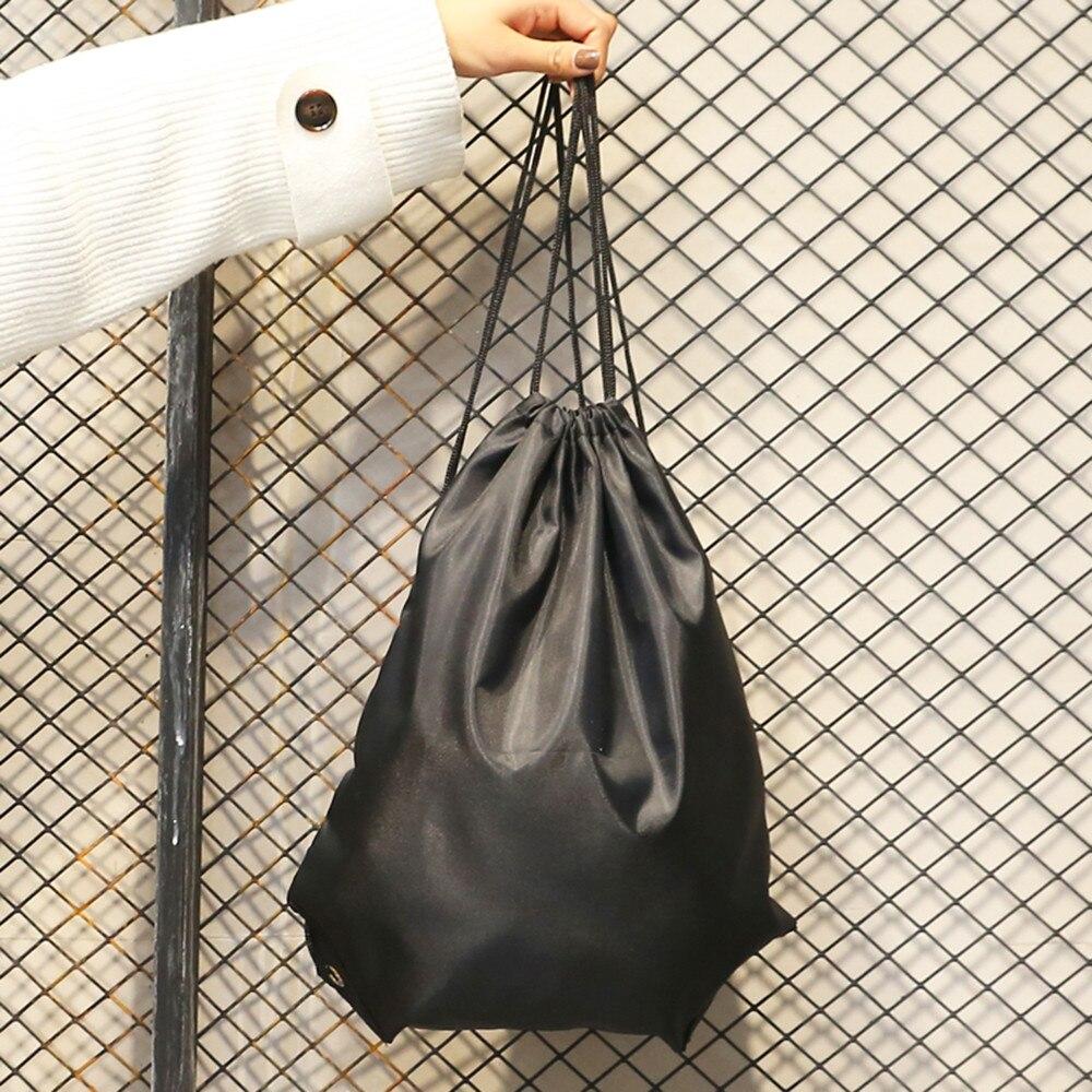 Мода Мужская Твердые шнурок для хранения сумка рюкзак Комплект карман Популярные JUNE1
