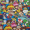 100X145cm Cartoon Super Mario Bros Family Polyester Fabric For Baby Boy Girl Clothes Schoolbag Curtain Table