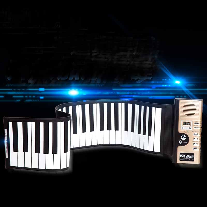 Kingtoy New Instrumentos Musical toys 61 key Professional Roll Up Piano