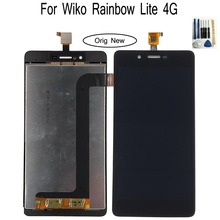 Shyueda 100% Oig NEW For Wiko Rainbow Lite 4G LCD Display Touch Screen Digitizer Assembly wth tools black white for wiko ridge 4g lcd touch screen assembly digiziter replacement lcd display for wiko ridge 4g free shipping