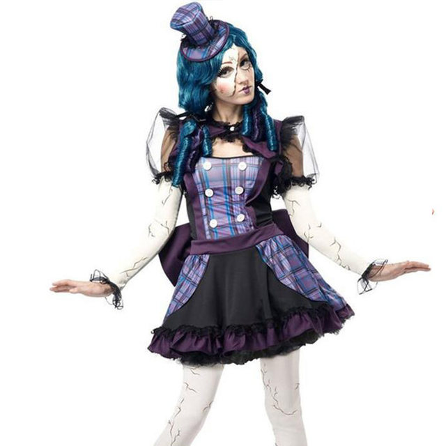 2015 High Quality Teen Girls Broken Doll Clowns Circus Costume For Women Halloween Costume  sc 1 st  Aliexpress & Online Shop 2015 High Quality Teen Girls Broken Doll Clowns Circus ...