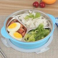 1000 ml Vòng Thép Không Gỉ Trưa Box Nhiệt Kim Loại Cách Nhiệt Bento Box Kids 3 Chia Container Thực Phẩm Nhật Bản Hộp Ăn Trưa