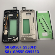 חדש עבור Samsung galaxy S8 בתוספת G955F G955FD התיכון מסגרת Midplate הלוח הקדמי שלדת שיכון עם ה SIM כרטיס חלקי S8 g950F G950FD