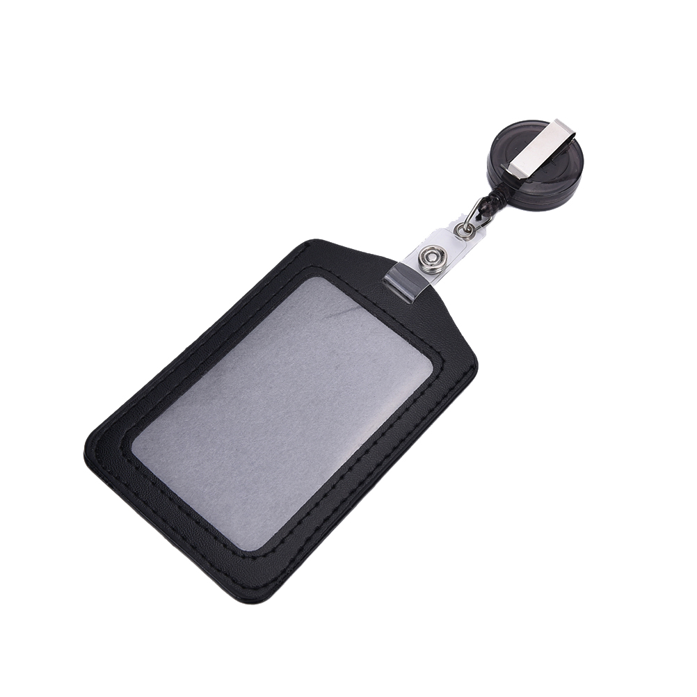 Velishy 1PC Cheap Bank Credit Card Holders PU Card Bus ID Holders Identity Badge with Retractable Reel Random Color WholesaleVelishy 1PC Cheap Bank Credit Card Holders PU Card Bus ID Holders Identity Badge with Retractable Reel Random Color Wholesale