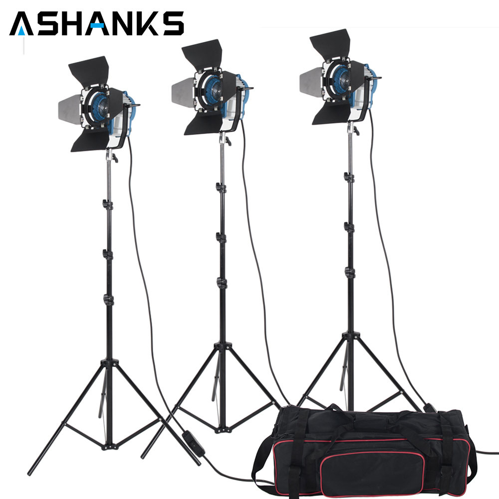 3 X 300W Studio Fresnel Tungsten Light with Dimmer Control Spotlight & Video Lighting Kit with Carry Bag for Camara Fotografica ashanks 800w studio video red head light with dimmer continuous lighting bulb free shipping