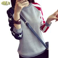 Latest Fashion Women Winter Sweater Elegant Pullover Wool Knitting Render Sweater Loose Slim Splicing Long sleeved Sweater G2220