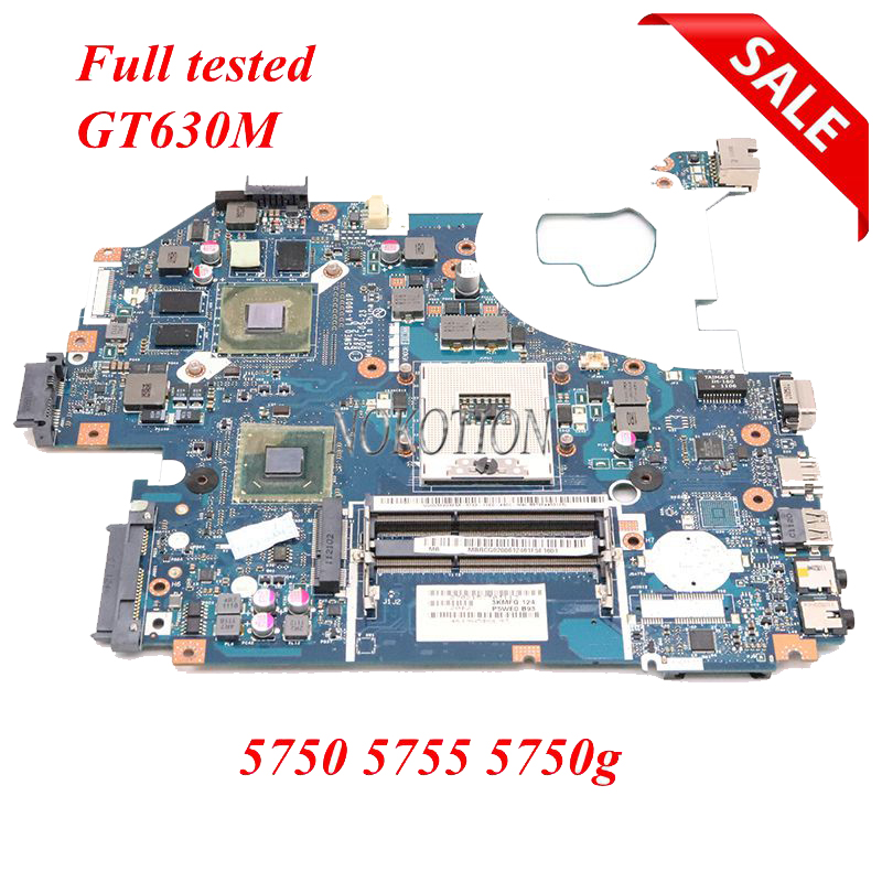 NOKOTION Laptop Motherboard For Acer 5750 5750g 5755 MB.BYX02.001 MBBYX02001 LA-6901P Main Board Graphics Gt630m Full Tested