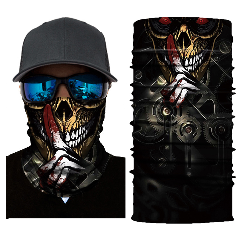 NEW Motorcycle Mask Biker Face Shield Sun Balaclava Halloween Scarf Kominiarka Ghost Moto Mask Cagoule Visage Masquerade Mask in Motorcycle Face Mask from Automobiles Motorcycles