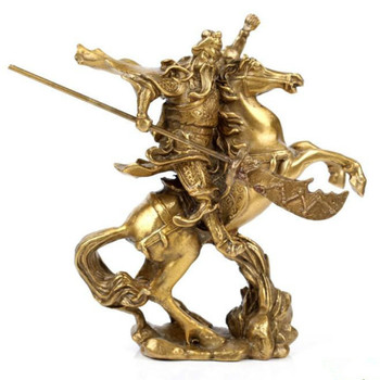 Chinese Ancient hero Guan Gong Guan Yu riding bronze statue home decoration ornaments for gift mx5041049