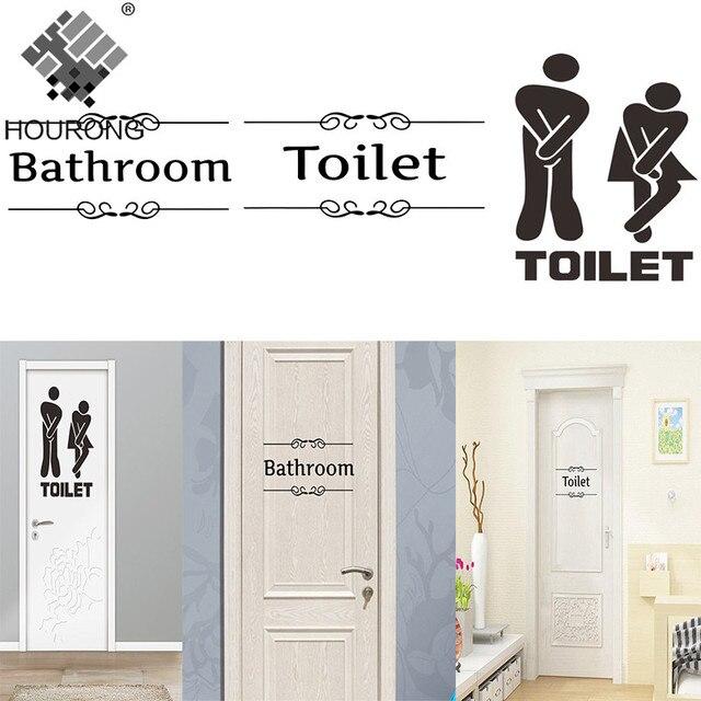 1 PC kreatywny naklejki łazienka wystrój drzwi WC WC winylowa tablica naścienna Transfer zabytkowa dekoracja cytat Wall Art akcesoria łazienkowe