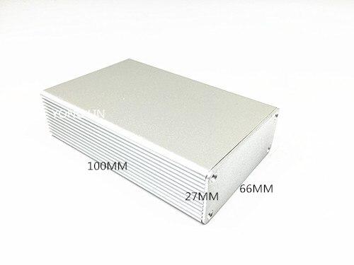 1 Stücke Aluminium Box Fall Amplifier66 * 27*100mm/aluminium Elektronische Verteilerkasten, Aluminium Instrumentenkoffer Box Fest In Der Struktur