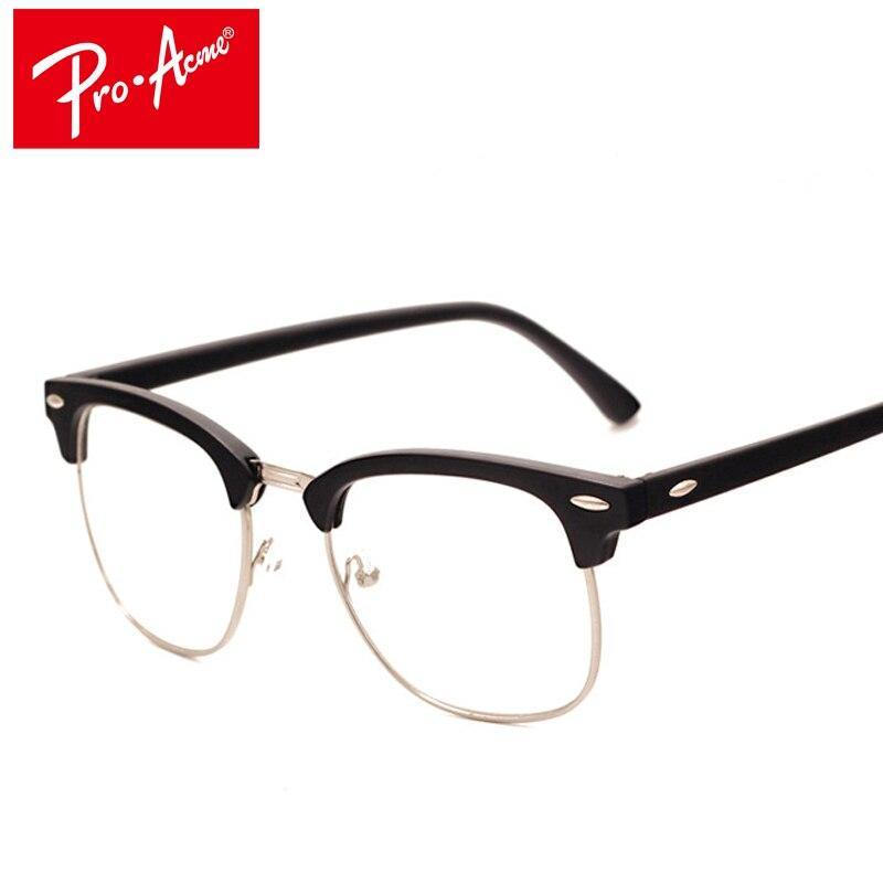 bf5215af0d39a Pro Homem Johnny Acme Moda Óculos de Armação com Lentes Claras Depp Nerd  Optical óculos Mulheres Computador Vidros do Olho Quadros para Homens CC0554