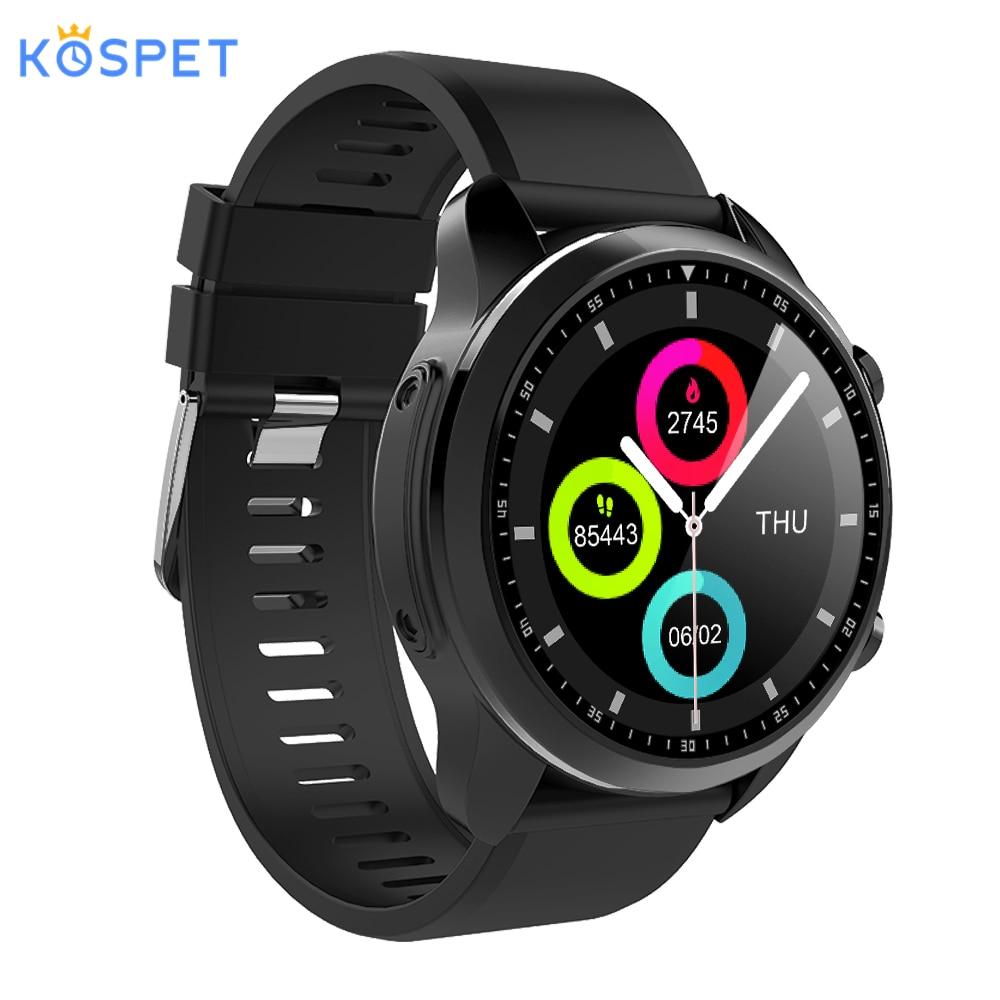 KOSPET BRAVE 4G 1.3 pouces IPS HD affichage montre intelligente Android 6.0 GPS Bluetooth 2 GB + 16 GB 620 Mah grande batterie Sport Smartwatch hommes