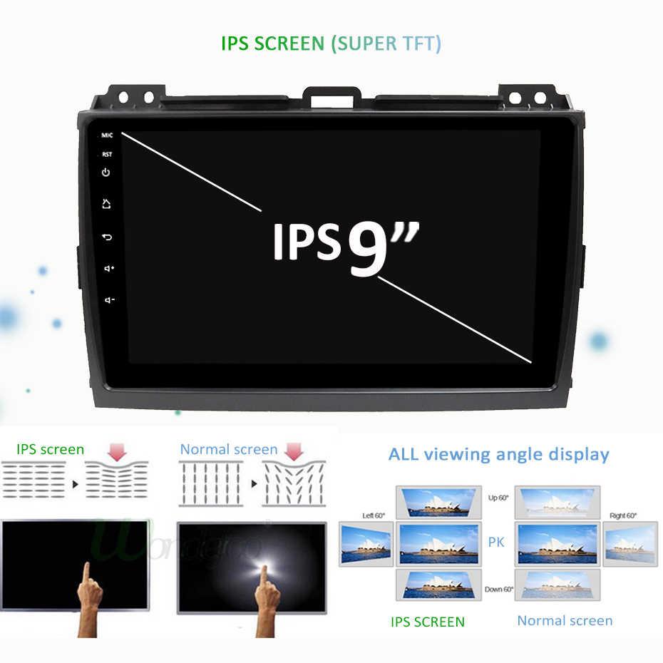 "9 ""Android 9,0 DSP ips автомобиля gps радио для Toyota Prado gps навигации стерео аудио 4 ядра PX3 Встроенный 4G модем без DVD плеер"