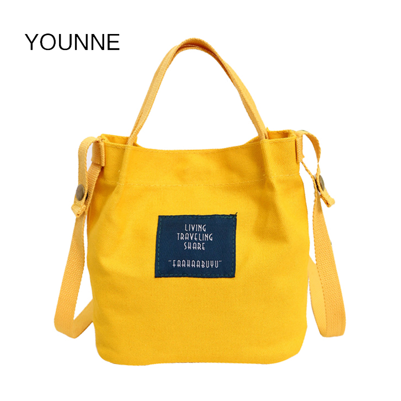 Younne Women Casual Totes Candy Color Handbags Women Canvas Shopping Bags for Girls Tote Handbags Fashion Shoulder Bags 2018