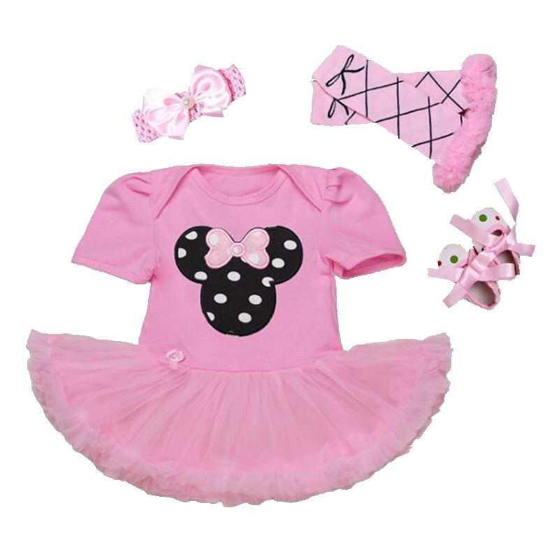 Toddler Girl Clothes Minnie Baby Lace Tutu Set Headband Legwarmers & Shoes Wedding Dress Vetement Bebe Infant Birthday Outfits crown princess 1 year girl birthday dress headband infant lace tutu set toddler party outfits vestido cotton baby girl clothes