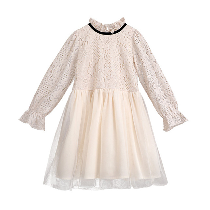 4 to 14 years kids & teenage girls lace tulle long sleeve princess party dresses children fashion formal dress clothing hayden girls boho ethnic dress designs teenage girls national embroidered dresses flare sleeve loose fit dress for 7 to 14 years