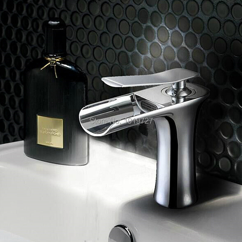 2016 Wholesale Hot Sale 100% Brass Modern Style Design Bathroom White Or Chrome Single Handle Single Hole Waterfall Faucet niko 50pcs chrome single coil pickup screws