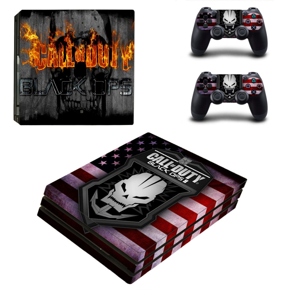 Call of Duty Black OPS III PS4 Pro Skin Sticker Decal For Sony PS4 PlayStation 4 Pro Console and 2 Controllers Skin Stickers