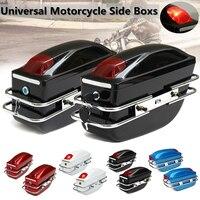 Mofaner 1 Pair Universal Motorcycle Side Boxs Luggage Tank Tail Tool Bag Hard Case Saddle Bags For Kawasaki For Harley For Honda