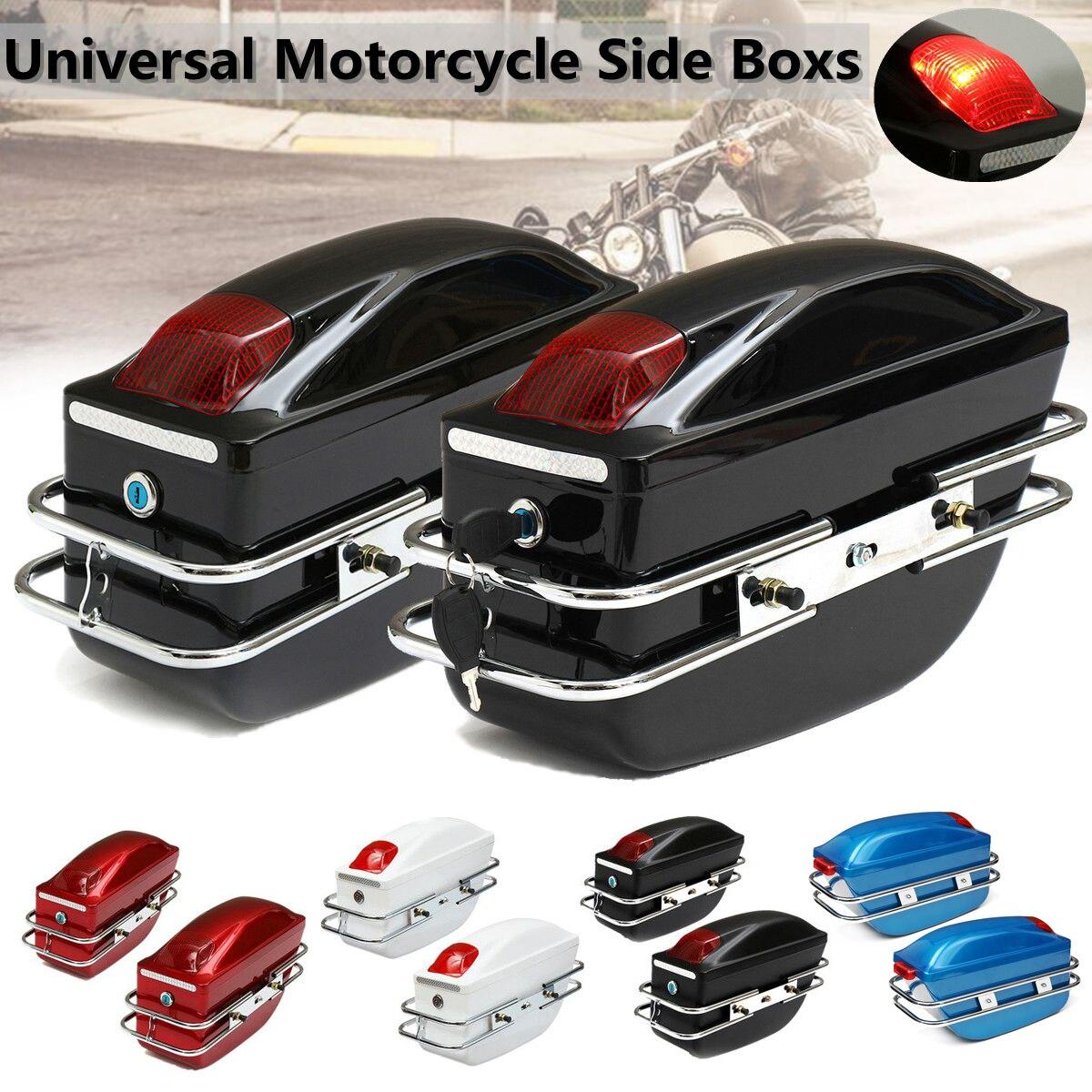 Mofaner 1 Pair Universale Del Motociclo Side Boxs Bagaglio Serbatoio Strumento di Coda di Caso Duro Del Sacchetto Borse da Sella Per Kawasaki Per Harley per Honda