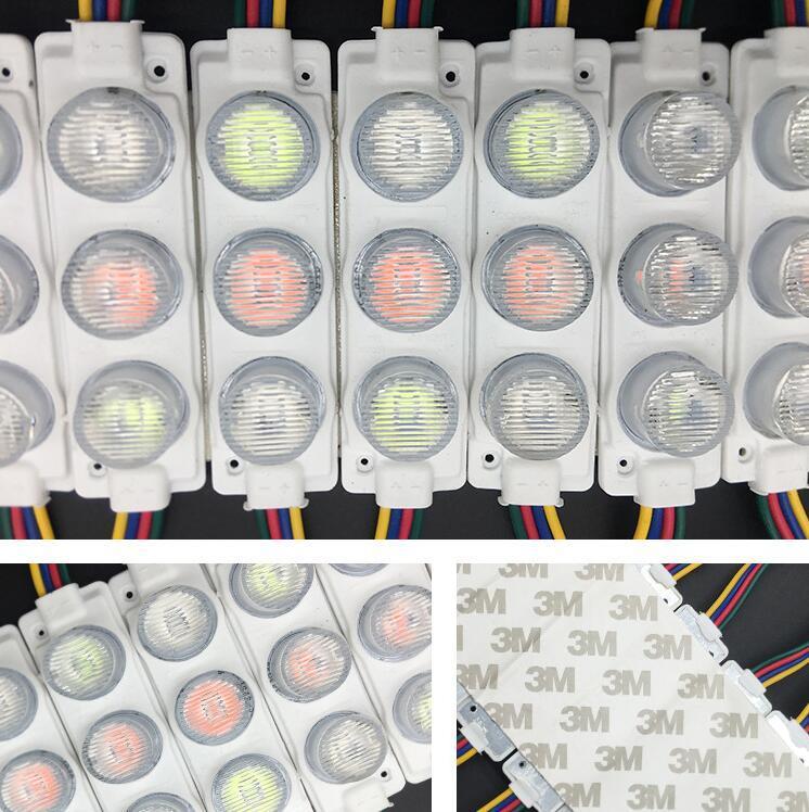 LEDneighbor SMD LED Modules 3030 3 LED Modules Waterproof Light Lamp 12V 20pcs//Pack Decorative Light IP65 Modules