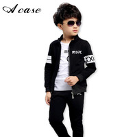 2017 New Spring Autumn Baby Boy Clothing Set Boy Sports Suit Set Children Outfits Tracksuit Clothes