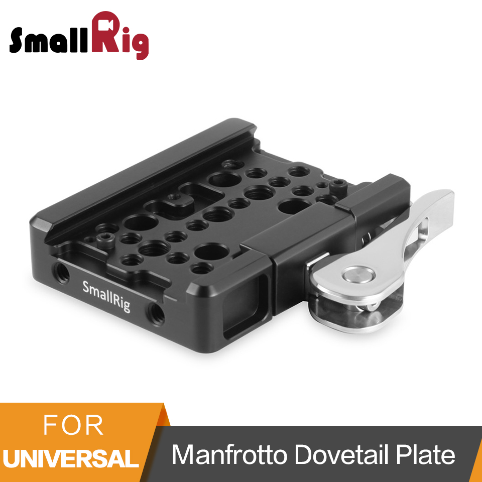 SmallRig Quick Release QR Plate Drop-In Dovetail Clamp for Manfrotto 501PL Tripod - 2006