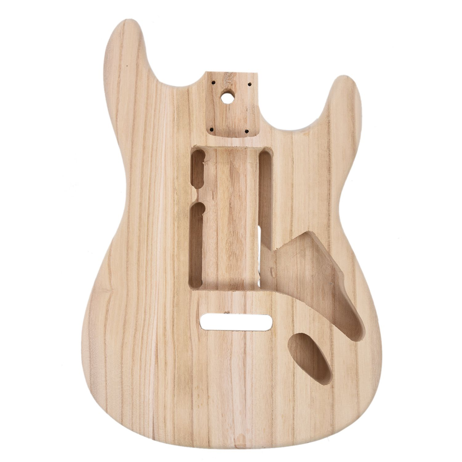 SEWS-Wood type electric guitar accessories ST electric guitar barrel material maple guitar barrel body musiclily 3ply pvc outline pickguard for fenderstrat st guitar custom