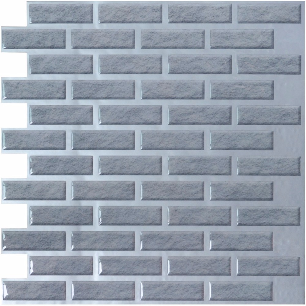 6 Pieces Peel and Stick Wall Tiles 12\'\'x12\'\' 3D Wall Sticker Wall ...