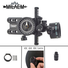 1Set Archery Compound Bow Sight With Adapter And 4x/6x/8x Lens Light Shooting Hunting Accessories