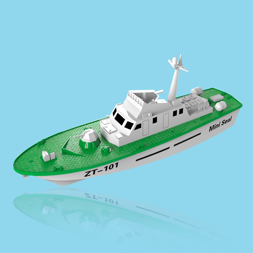 Free Shipping Mini Dragon Seal Electric Powered Missile Boat Model Assembly Ship Handmade DIY Toy Warship Children Gift In Building Kits From
