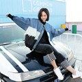 [Soonyour] 2017 весной новый джинсовый жакет женский шить крупных женщин размер свободные свободные пальто A00105