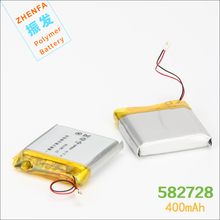 3.7V 400mAh 582728 universal 582828 602828 li-Polymer Battery For Q50 G700S Y3 Childrens smart watches mp3 with PCM Rechargeable