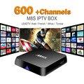 Francés Árabe IPTV Box Quad Core M8S TV Box 2 GB/8 GB 600 + Leadtv Canal + Niños MBC Canales de Televisión En Vivo Para Los Deportes Cielo Europa deportes