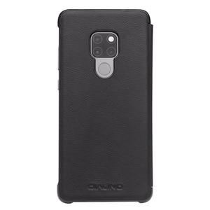 Image 2 - QIALINO יוקרה אמיתי עור Flip Case עבור Huawei Mate 20 אופנתי בעבודת יד Ultra Slim כיסוי עם תצוגה חכמה עבור Mate 20 פרו