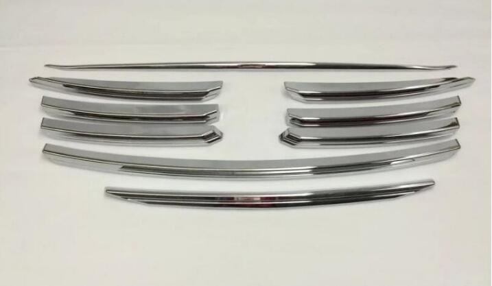 Couvercle style de voiture Pour 2015-2017 Mazda CX-5 CX 5 ABS chrome grille racing grill hotte décorative garnir moulure 9 pcs/ensemble