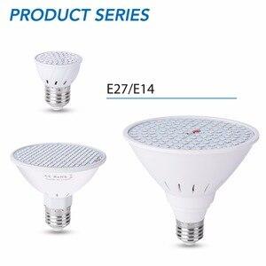 GU10 LED تنمو لمبة E27 مصنع ضوء E14 داخلي تنمو LED لمبات الشتلات MR16 48 60 80 126 200 المصابيح فيتو مصباح B22 الزراعة المائية ضوء