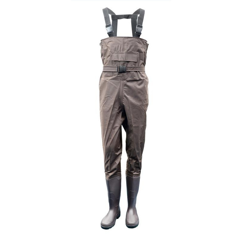 Eu38 47 Fishing Camping Strap Nylon Waterproof Wading Anti wear Pants With Non slip Boots Men