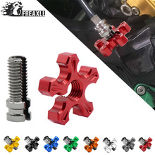 Universal Motorcycle CNC Aluminum brakes Clutch Cable Wire Adjuster For YAMAHA YZ125 YZ250 YZ426F YZ450F YZ250F YZ 125 250 426F