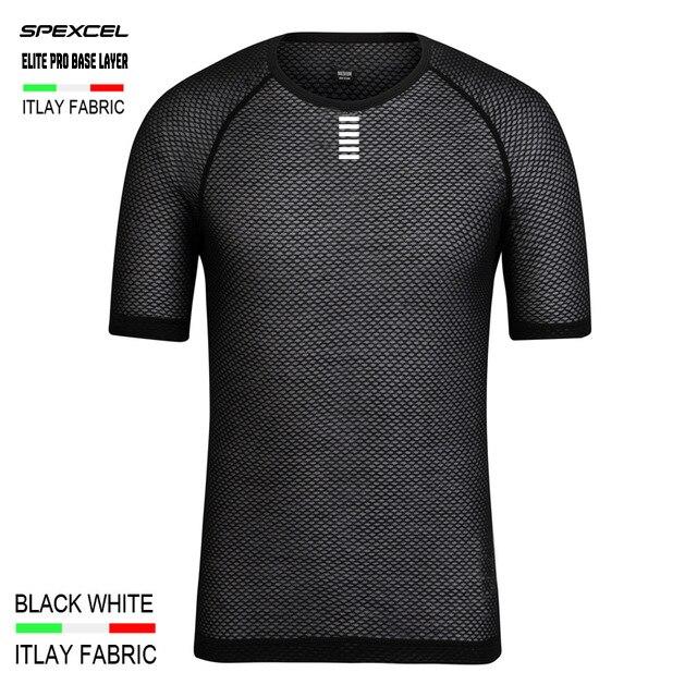 Цена за Spexcel италия miti ткани elite pro команда базовый слой с коротким рукавом велоспорт футболка мужчины женщины сетки дышащий спорт нижнее белье