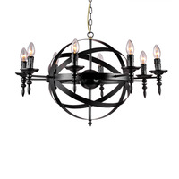 Retro American 6/8 Head Candle Iron Chandelier LOFT Living Room Cafe Bar Restaurant Creative Cafe Chandeliers