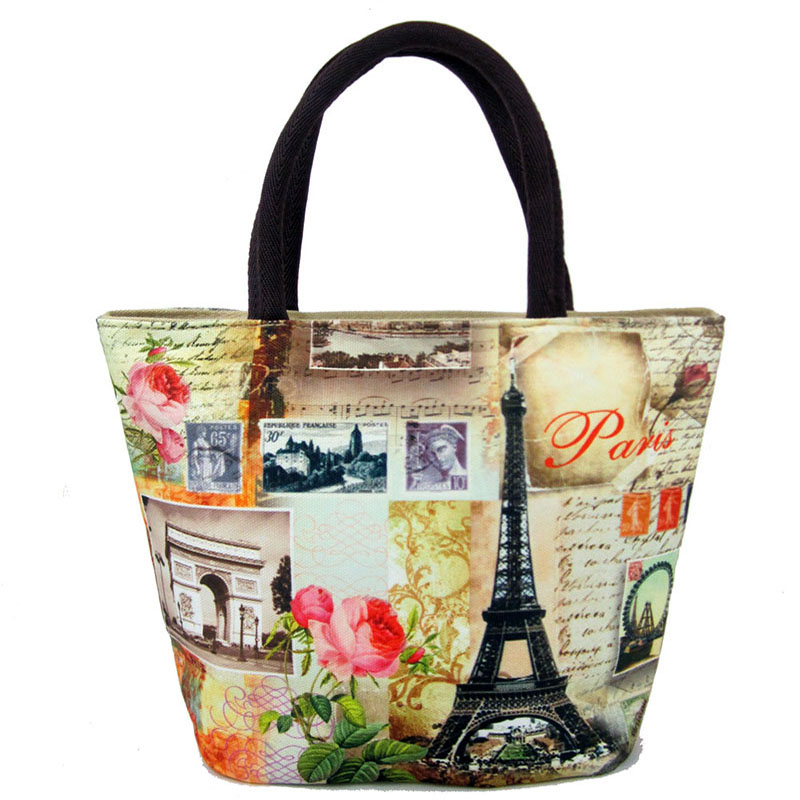 097645613964 Женская пляжная сумка с принтом, парусиновые сумки на плечо, женская модная  дорожная пляжная сумка, повседневная большая сумка.