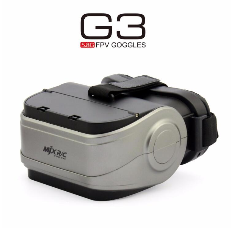 MJX G3 5.8G FPV Goggles for MJX D43 FPV Receiver Monitor Bugs 6 Bugs 8 B6 B8 Brushless Racing Drone Quad Video Goggles RC Part fpv wireless 5 8g 48ch rd945 dual diversity receiver with a v and power cables for fpv racing drone rc airplane toys part